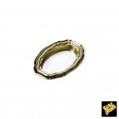 Plastový podnos elipsa 64x49mm, zlatý - Finger Food