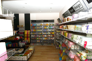 Amarena showroom - predajňa, prestieranie