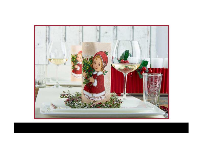 Vianočné prestrieranie, vianočné servítky